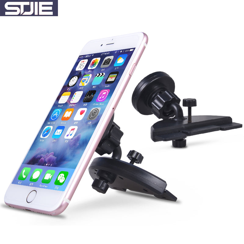 STJIE universal magnetic holder car CD slot holder mobile phone