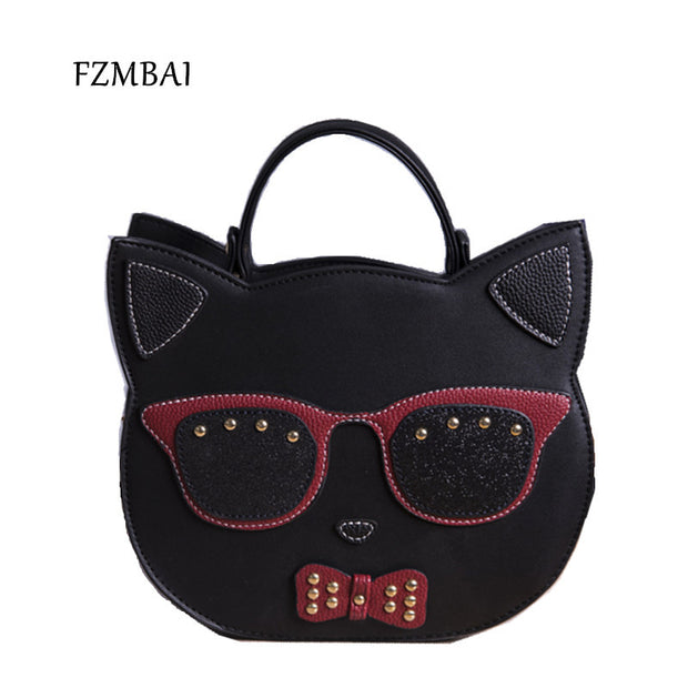 FZMBAI 2017 New Girls Cool Punk Cat Bag Fashion Women Single