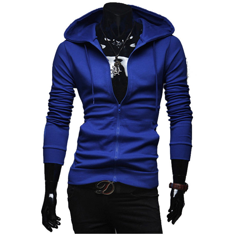 2017 hoodies men Solid color Slim palace hoodie Fashion and leisure
