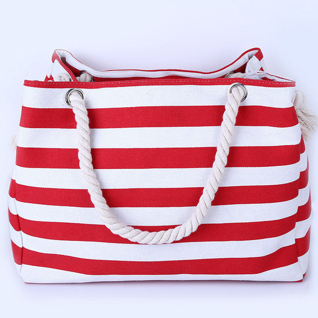 2017 New Arrival Big Summer Beach Bag Canvas Women Casual Tote Lady
