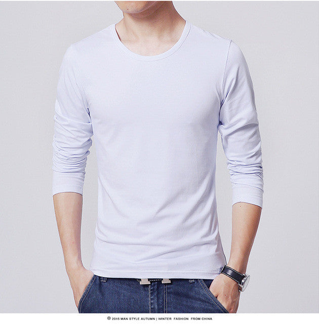 2017 MRMT men's T shirt 3 Basic colors Long Sleeve Slim T-shirt