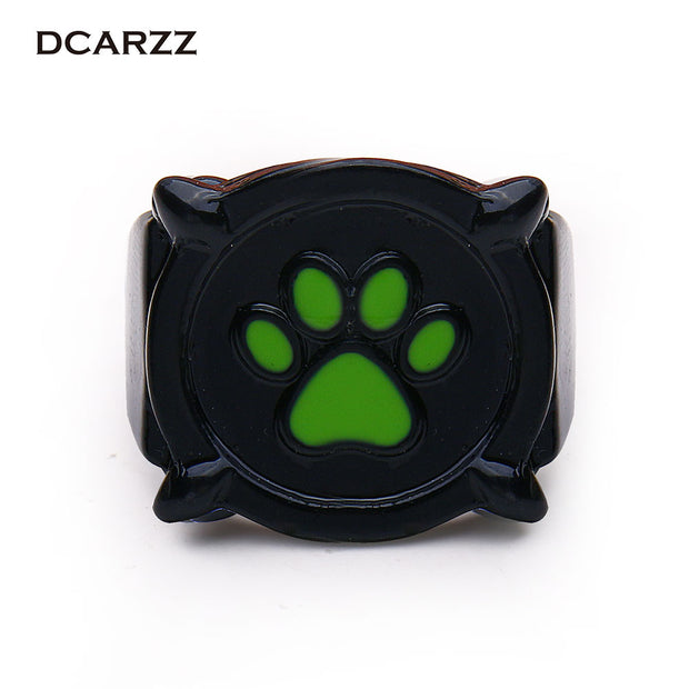 Chat Noir Green Pawprint Ring for Men Miraculous: Tales of Ladybug &