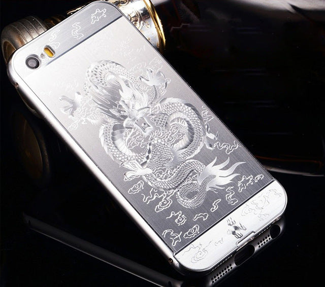 for Apple iPhone 6 6S 7 Plus Acrylic Case Metal Bumper Back Cover