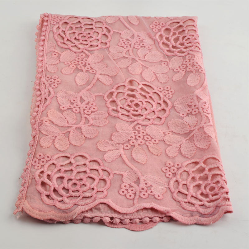 Scarves 2017,plain viscose hijab,Cotton head scarf,lace flower