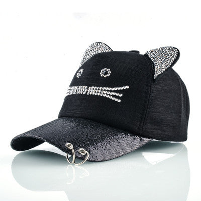 Girl brand baseball cap with rings women snapback hip hop hat gorras