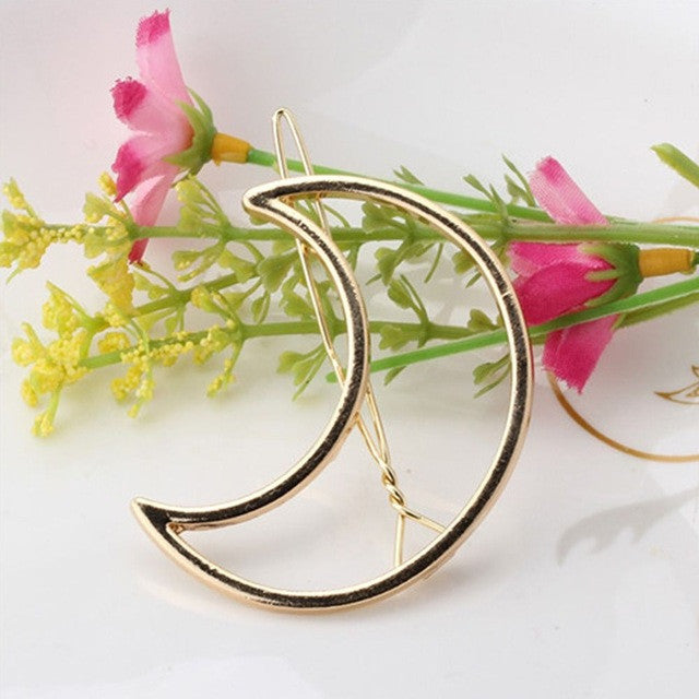 2 pcs Fashion Jewelry Accessories Lip Hollow Hairpins Plated Silver