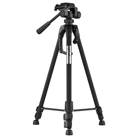 Portable Aluminum Alloy Tripod with 3-Way Damping Tripod Head for Canon Nikon Sony DSLR ILDC DV Cameras Max. Height 140cm
