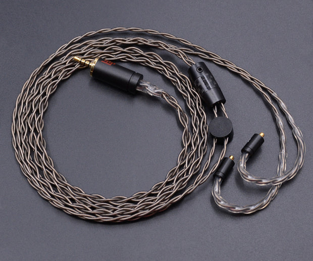 New NICEHCK 2.5mm MMCX Cable High Quality Single Crystal Silver