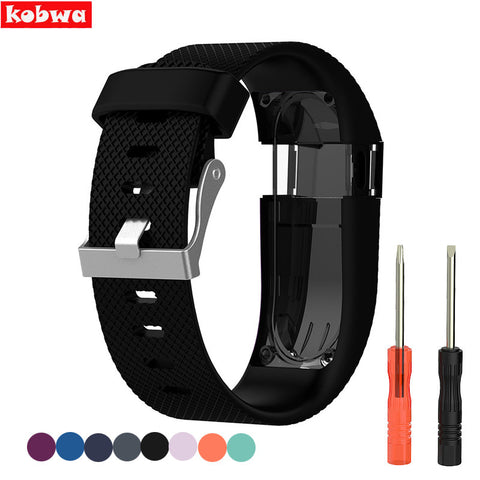 For Fitbit Charge HR Replacement Bands Strap Wearable Devices Mi Band 2 Accessories Silicone Metal Clasp for Fitbit Smart bands
