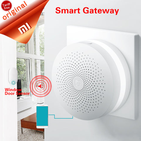 Original Xiaomi Gateway Mi Smart Control Center Smart Home Kit Upgrade version Control Radio Yi Camers other smart home kits