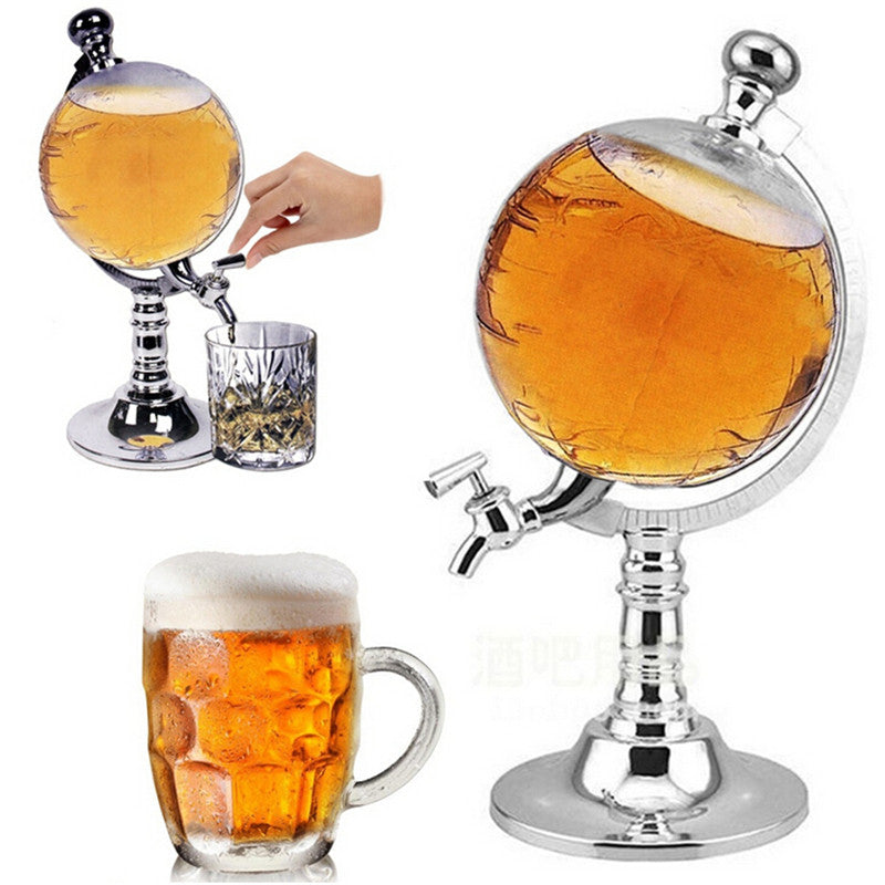 1PCS 1000cc Creative Globe Shaped Beverage Liquor Dispenser Drink Wine