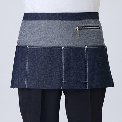 2017 New Aprons With Pockets Denim Half Body Cafe Cowboy Uniform