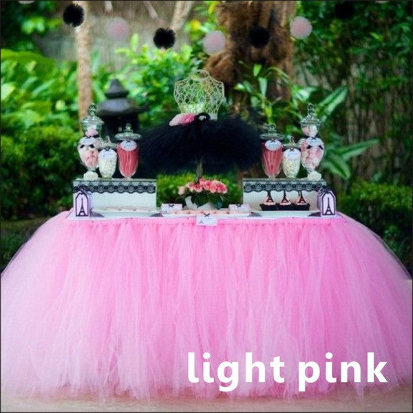 1Pcs 15 Colors Tulle Table Skirt DIY Tutu Tableware Skirts For Wedding