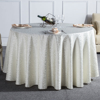 1PC Curl Grass Pattern Solid Round Tablecloth For Wedding Party