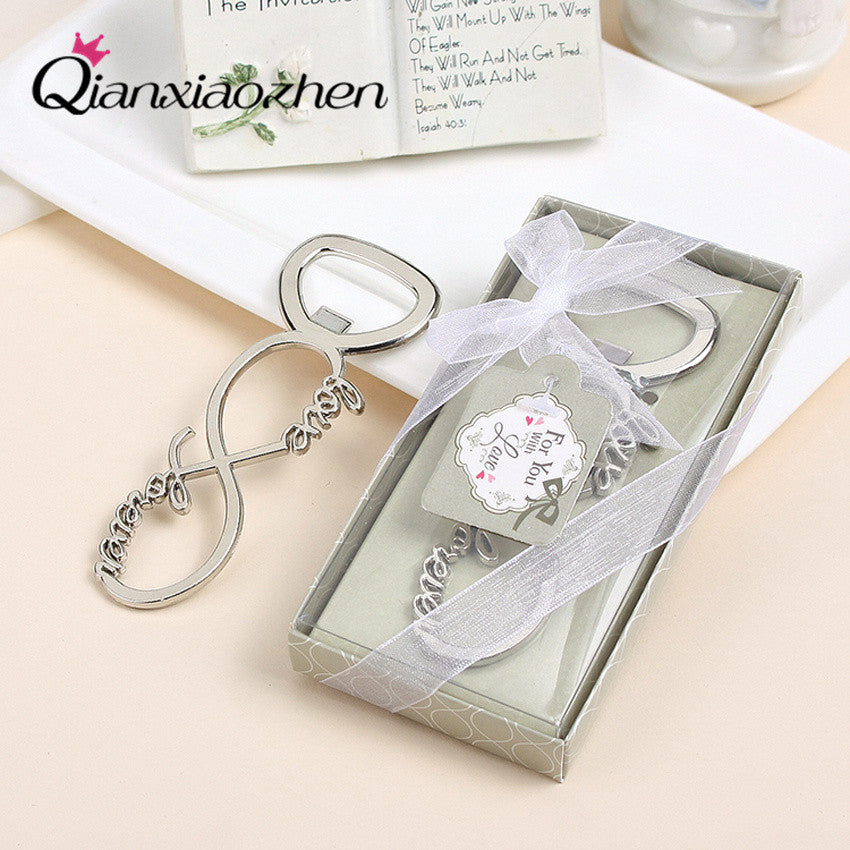 10pcs Love Forever Bottle Opener Wedding Favors And Gifts Wedding