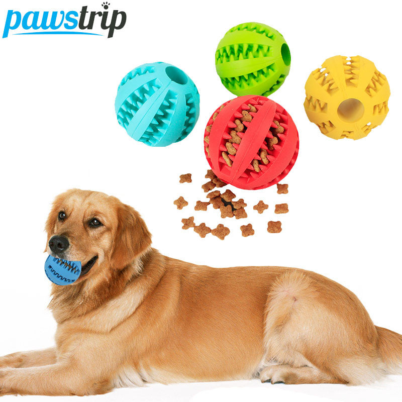 1pc Soft Rubber Dog Toys Ball Funny Playing Dog Food Dispenser