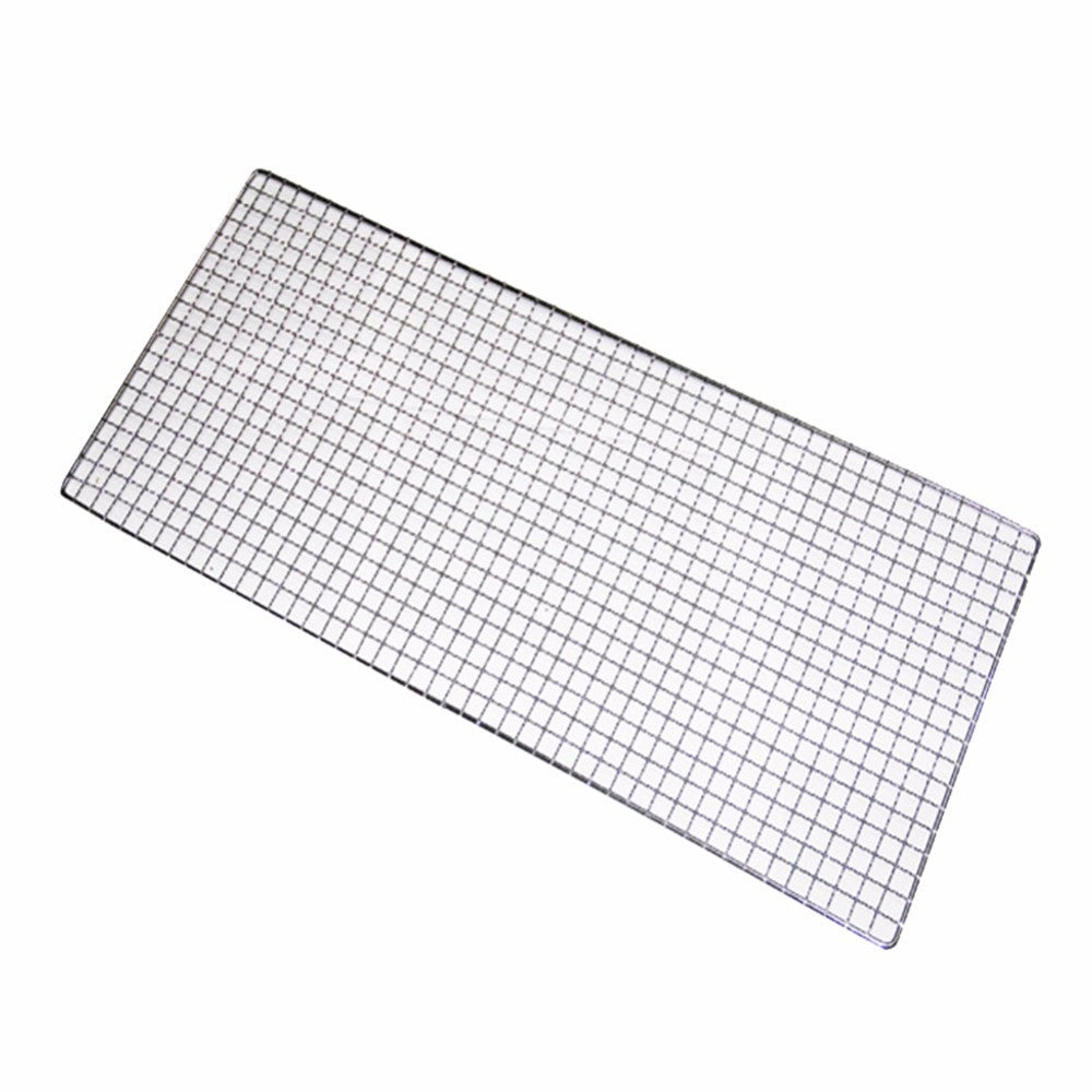 1pcs 32cm x 26cm Metal Squares Holes Grill Barbecue Wire Mesh BBQ