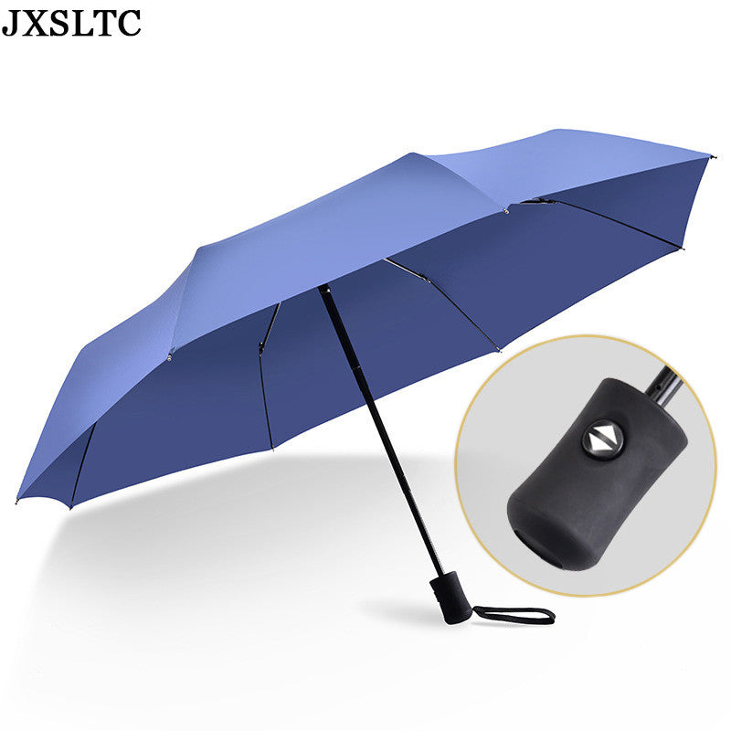 2017 New Automatic Umbrella Bone ReinforceWindproof Three Fold