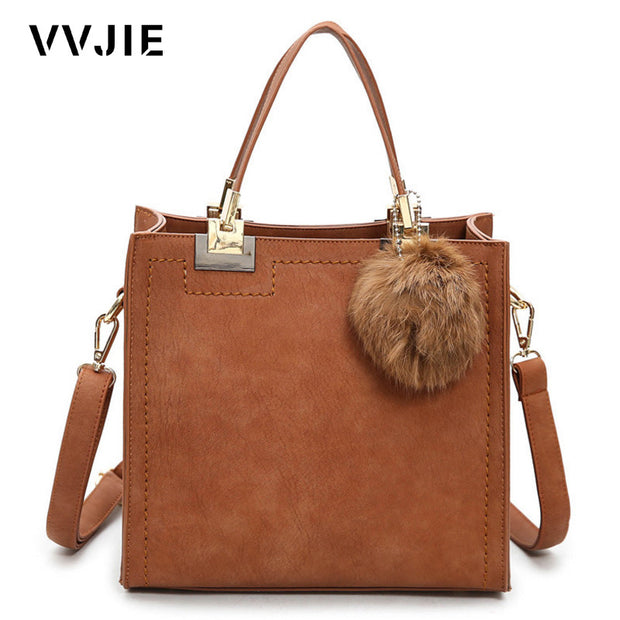 VVJIE Vintage Women Famous Brand Designer Luxury Leather Handbags