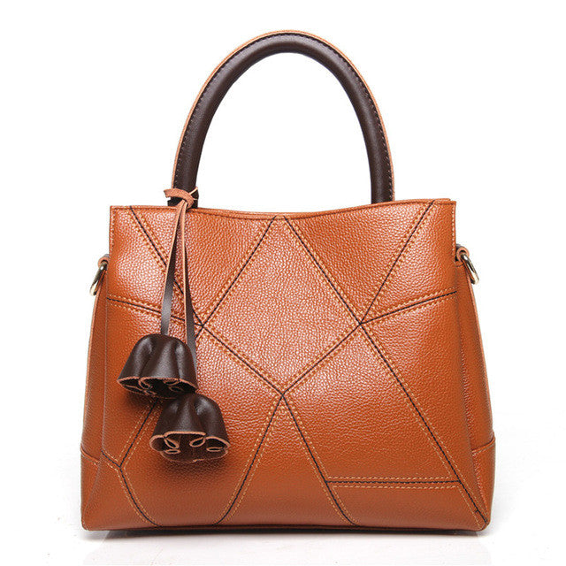 2017 Ladies Genuine Leather Handbag Shoulder Bag Female Luxury