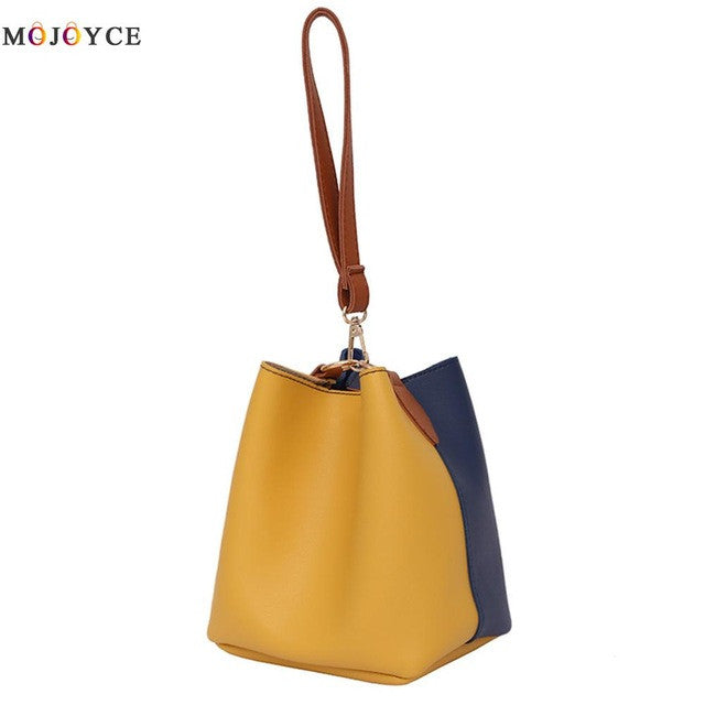 2017 Fashion Famous Brand Ladies Bucket Bag With Colors Shoulder