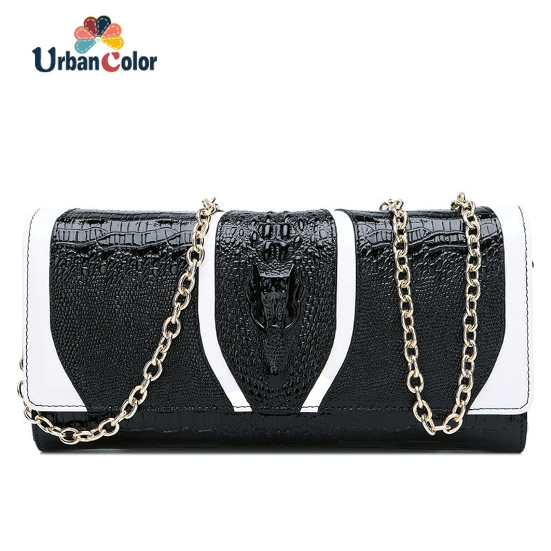 2017 New Fashion Women Messenger Bags Alligator Chains High Quality
