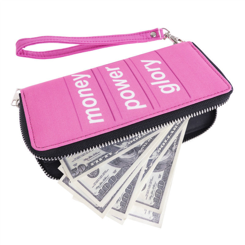 Women Wallet Letter Printing Pink Wallets Famous Designer Purse Female