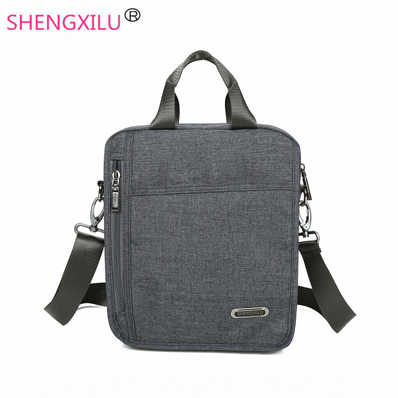 Shengxilu business men shoulder bags high quality canvas brand logo