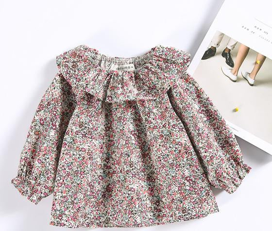 2017 Children Retro Lace Collar Sweater Coat Small Suihua Doll Baby