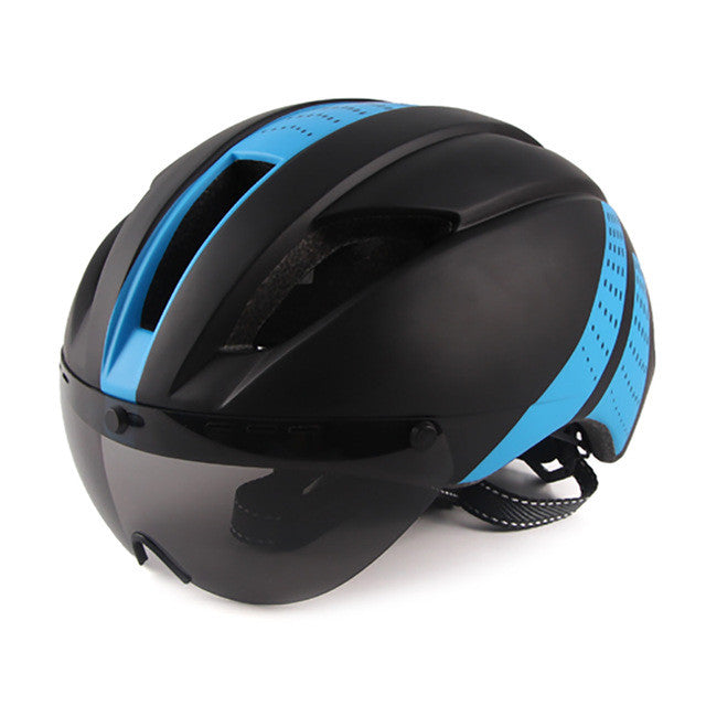 2017 New Glasses Bicycle Helmet With Lens Integrally Aerodynamic EPS