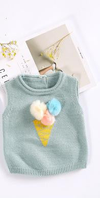 2017 Autumn And Winter, New Boys And Girls, Ice Cream, Wool Ball,