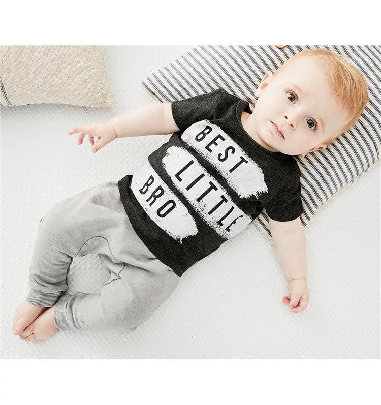 2017 New Style Baby Boy Clothing Set Short sleeve Fashion Letter