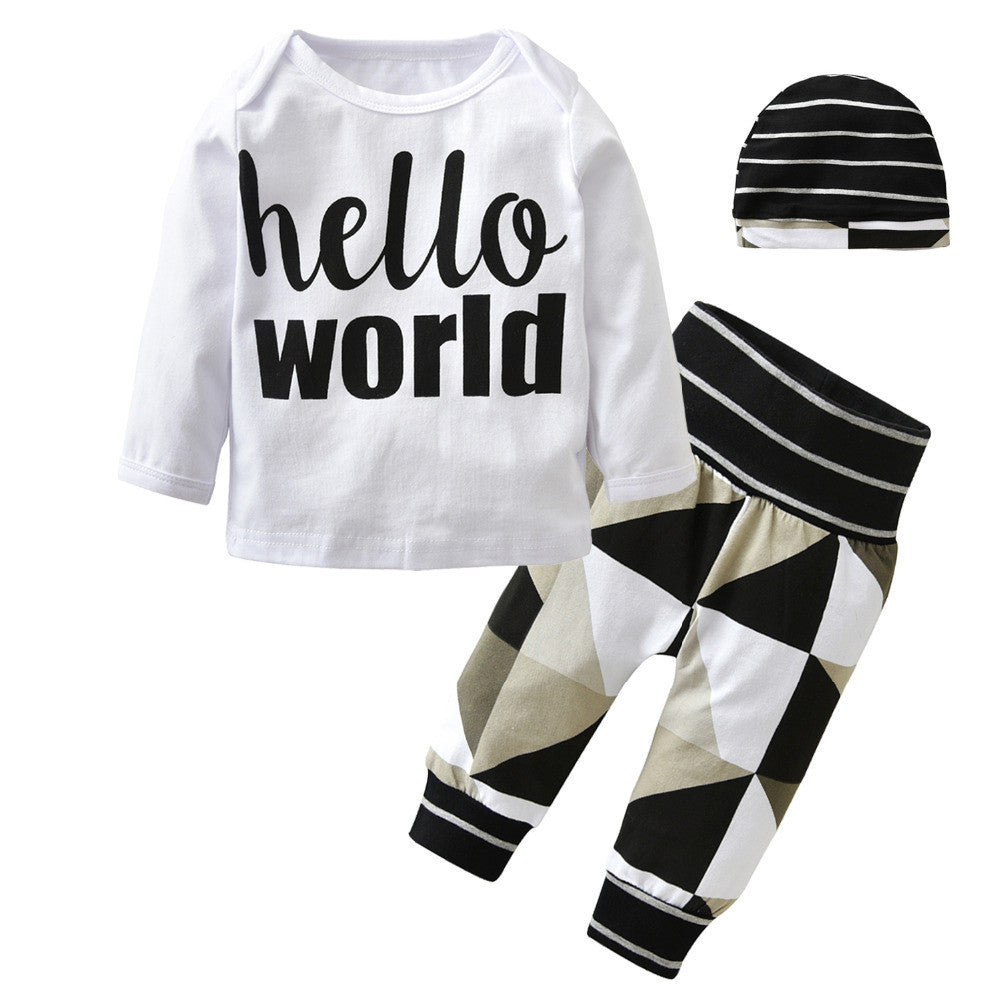 2017 New style Baby Boys Girls Clothing Set Winter Cotton Long
