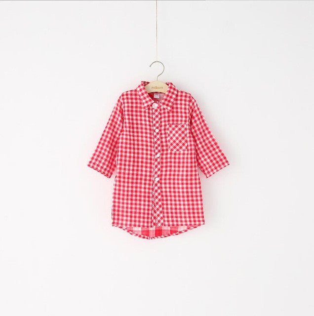 2-8 years 2017 New Wholesale Cotton Autumn kids girls Full Sleeves red