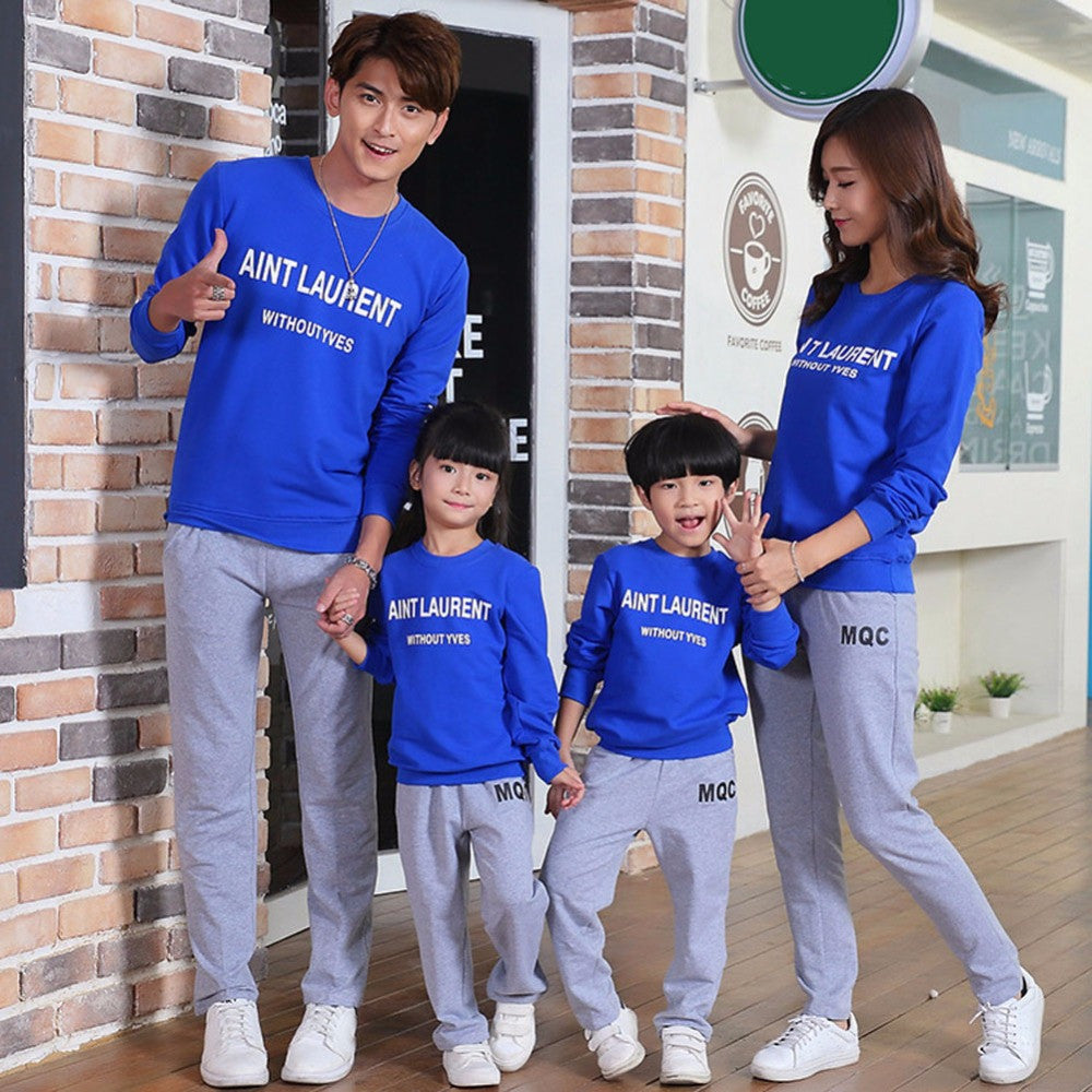 2017 Autumn Family Clothing Sets Boy Girl Clothing Kids Clothes Mother
