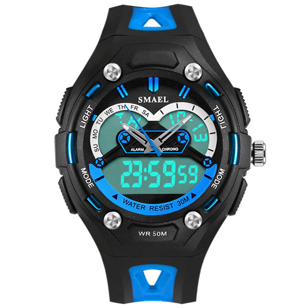 2017 New Brand SMAEL Children's Watches LED Display Dual Time Sports