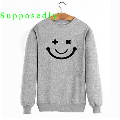 2017 New Autumn and winter Women Casual Cute Hoodies Smile Face