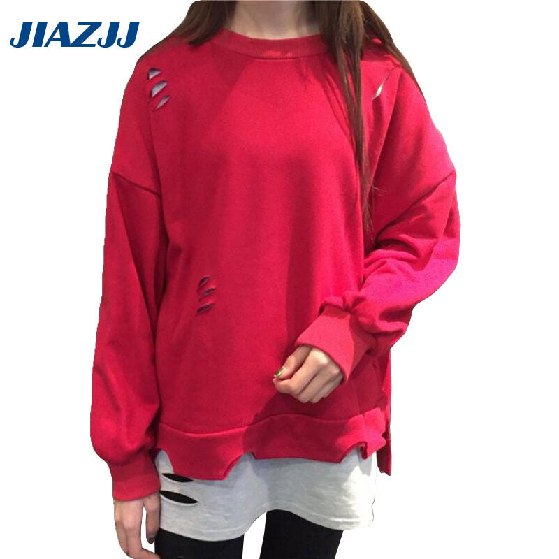 2017 fashion cotton casual loose hoodies long sleeves of women