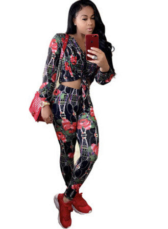 2017 New Autumn fashion Sexy Two Piece Rompers Womens Jumpsuits