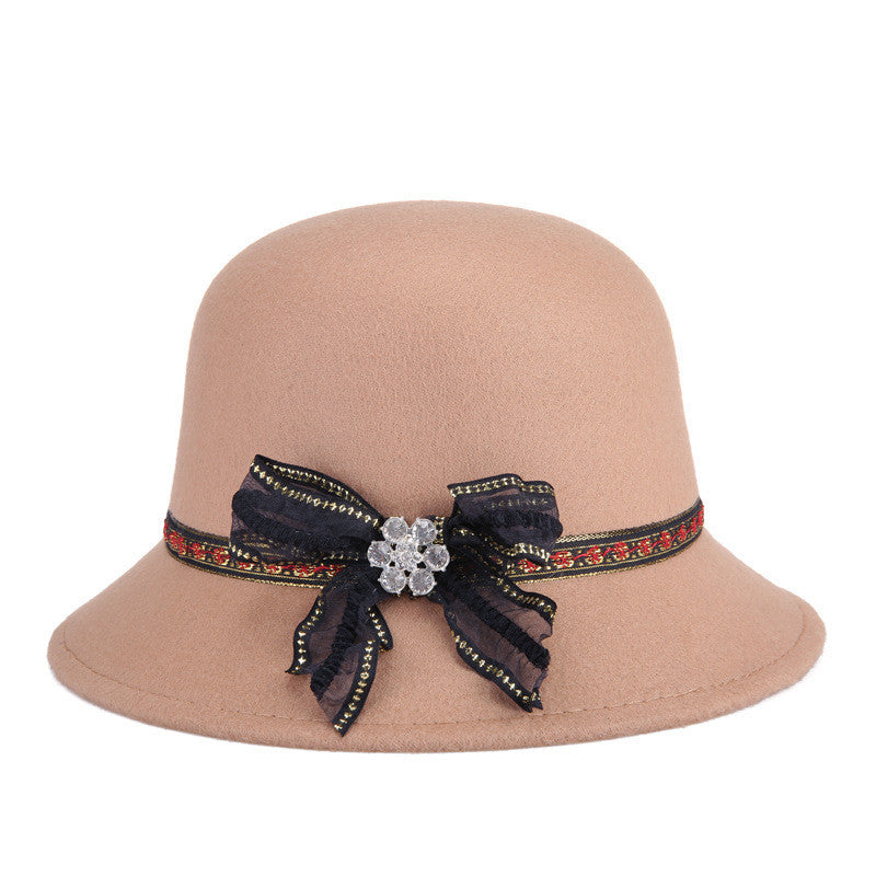 2017 NEW Brand Autumn Winter Fedora Hat For Female Ladies Felt Top Hat