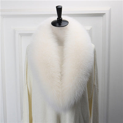2017 Natural Fox Fur Collar Luxury Fox Fur Collar Ring Scarf Women
