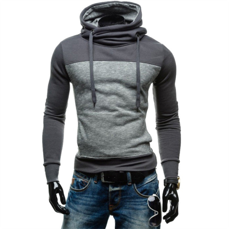 2017 New Arrival Autumn Plus Size Men Hoodies Fashion Hit Color