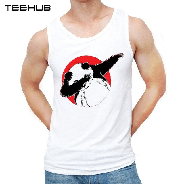 2017 Dabbing Unicorn Men tank tops Elephant Dancing printed Shirts