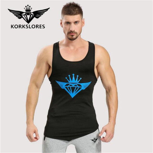 2017 Men Gyms shirt vest fitness clothes men strong and handsome man