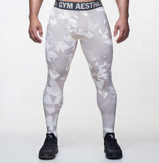 2017 Camouflage Men Pants Fitness Joggers Compression Tights Long