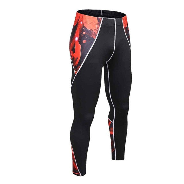 2017 Mens Compression Pants Jogger Fitness Excercise Bodybuilding
