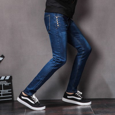 2017 Autumn New Skinny Jeans Mens fashion boyfriend stylish straight