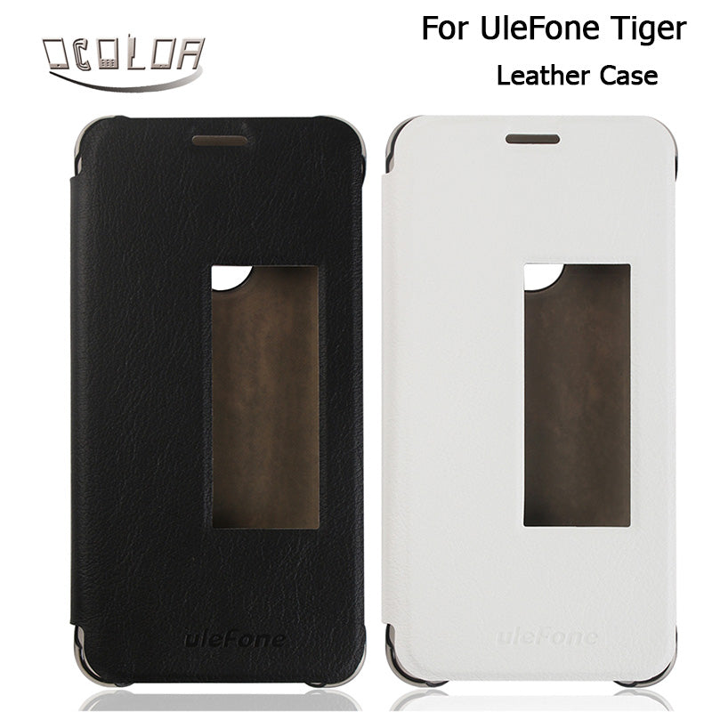 For UleFone Tiger PU Leather Case With View Window Original Flip Cover