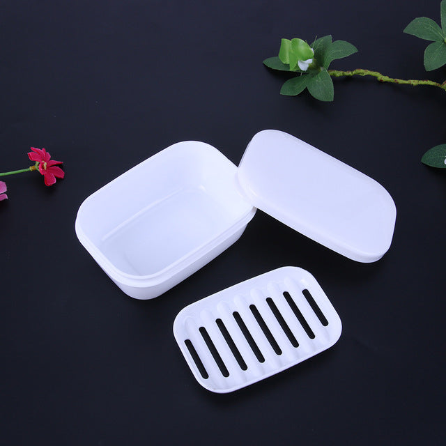 1pc Home Travel Soap Box Soap Holder with Lid Seal Leak-proof Dish