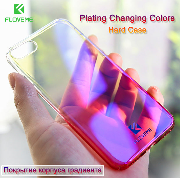 FLOVEME Changing Color Clear Case For iPhone 7 5 6 5S SE Ultra Thin